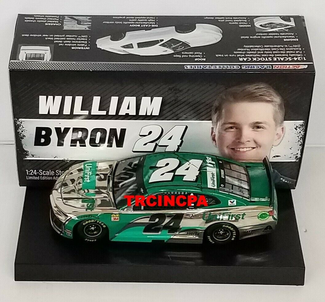 William Byron 2019 Lionel  24 unifirst Couleur chrome Chevy Camaro ZL1 1 24 Free
