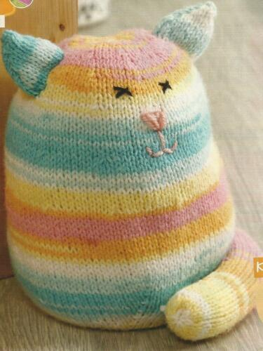 KNITTING PATTERN FOR TIDDLES THE CAT DOORSTOP