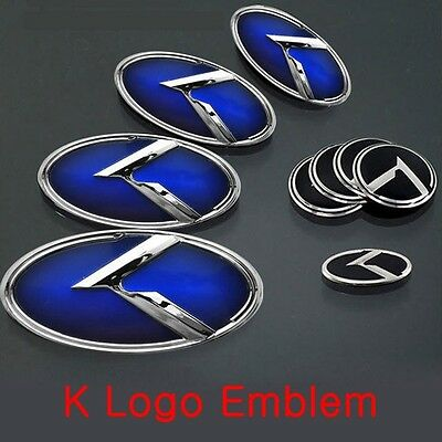 Kspeed Blue 3D K Logo Front Emblem 1pc Fits: KIA 2017+ K7 Cadenza