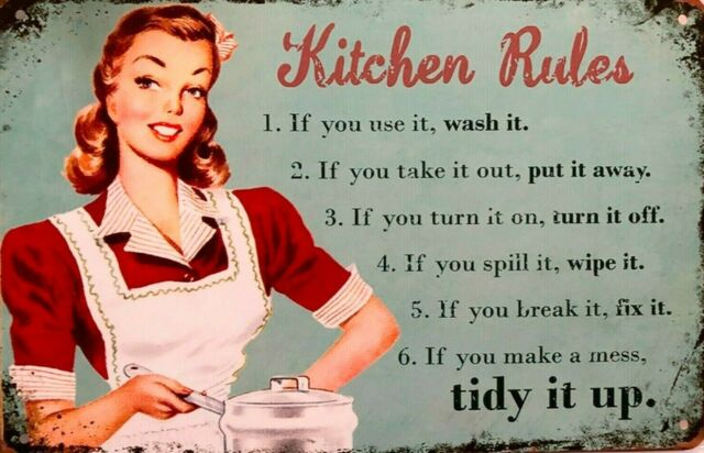Kitchen Rules tin metal sign MAN CAVE brand new