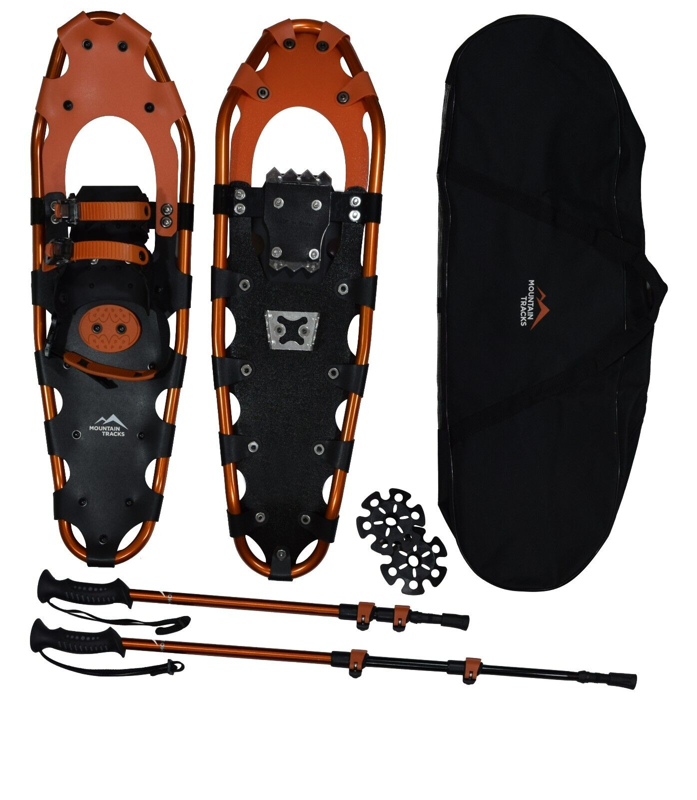 Mountain Tracks Pro Series Snowschuhe Set with Poles & Carry Bag (72cm or 2.35ft)