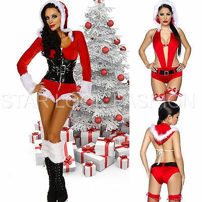 Weihnachts-Overall Nikolaus Monokini Weihnachten Kostüm Overall rot weiß