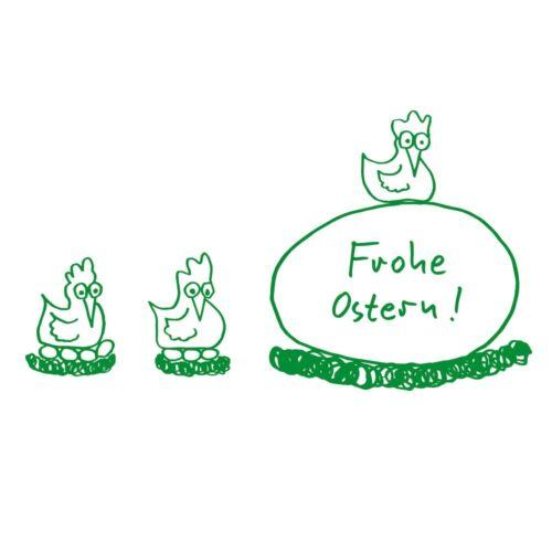 Hühner 60x30 mm von stempel-fabrik Ostern Holzstempel