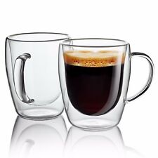 Item 4 Set Of 2 Strong Clear Glass Double Wall Coffee Mug Tea Espresso Cup  10 Oz  Set Of 2 Strong Clear Glass Double Wall Coffee Mug Tea Espresso Cup  10 Oz