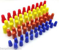 70pc Electrical Wire Twist Nut Connector Terminals Cap Spring Insert Assortment