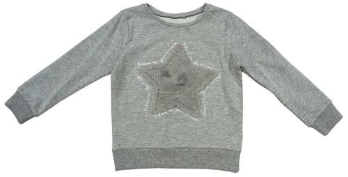 Girls Fluffy Star Believe in Magic Sweatshirt Jumper Top Pullover 4 to 13 Years