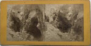 Modeste Glacier Chamonix Photographie Stereo Vintage Albumine