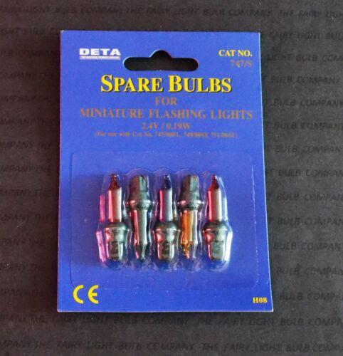 DETA 747//S 2.4V MINIATURE FLASHING LIGHTS MULTI SPARE LAMPS 7137