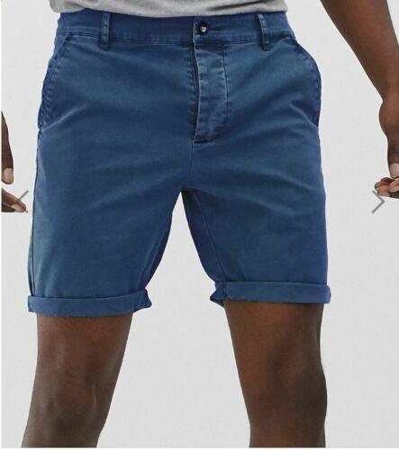 New Mens Washed Chino Shorts Twill Cotton Summer Casual Half Pants Work Khakis