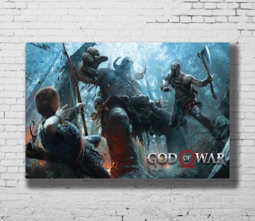 P-77 Art God Of War 4 New 2 LW-Canvas Poster 21 24x36in
