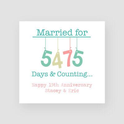 Personalised Handmade 15th Wedding Anniversary Card Crystal Fifteenth Ebay