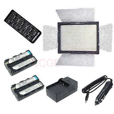 YONGNUO YN600 3200k-5500k Adjustable LED Video Light + Battery + Car charger KIT