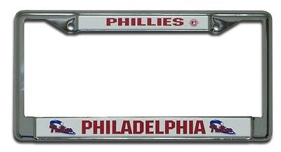 1 Philadelphia Phillies Chrome Auto License Plate Frame