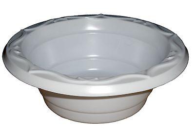 White Disposable Dessert Plastic Bowls Party Pack x 100