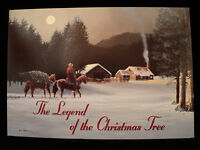 Leanin Tree the Legend Of The Christmas Tree Boxed Cards Set Of 10 Cards