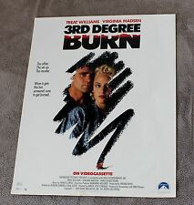 3rd Degree Burn 1989 Spottiswoode Treat Williams Virginia Madsen Video Poster EX
