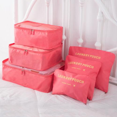 6stk Reise Kosmetik Koffer Organizer Innentasche Aufbewahrung Gepäck Tasche P//D