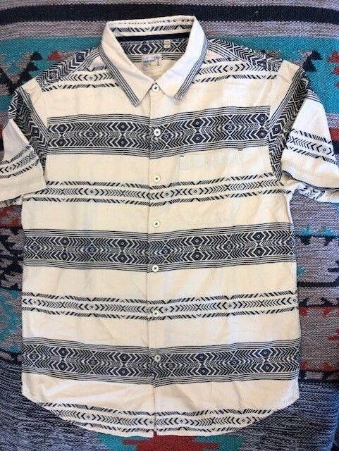 Sundance Catalog Men's  Leighton Shirt  Ivory True Grit Button Front Brand New