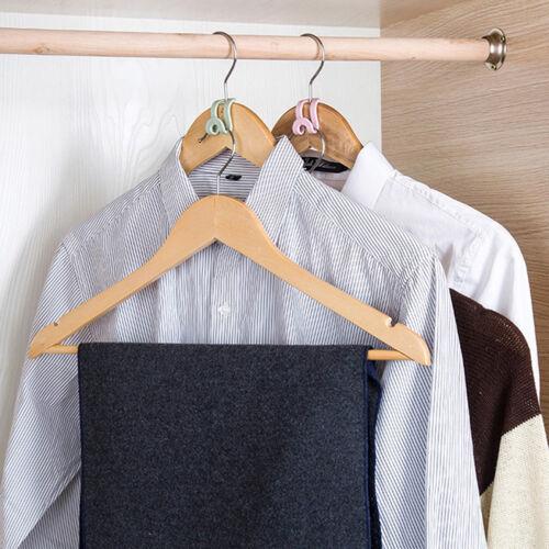 5Pcs Mini Plastic Non-slip Clothes Hanger Home Easy Hook Closet Organize /_sh
