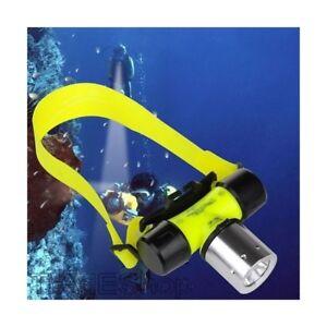xx Lampada Frontale Subacquea Led TeKone Torcia Immersione Sub Ricaric Pesca hsb