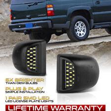 2000-2006 Chevy Tahoe Suburban GMC Yukon XL LED License Plate Light Housing Pair