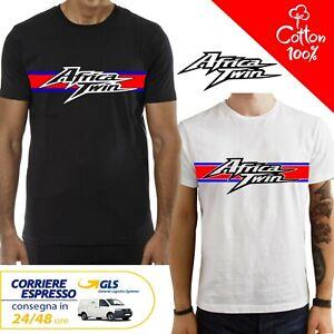 T-Shirt-Honda-Africa-twin-uomo-Maglia-moto-nera-cotone-100-maglietta