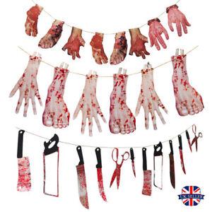 Halloween-Decoration-Saignant-Membres-Guirlande-Fournitures-de-Fetes-Soiree