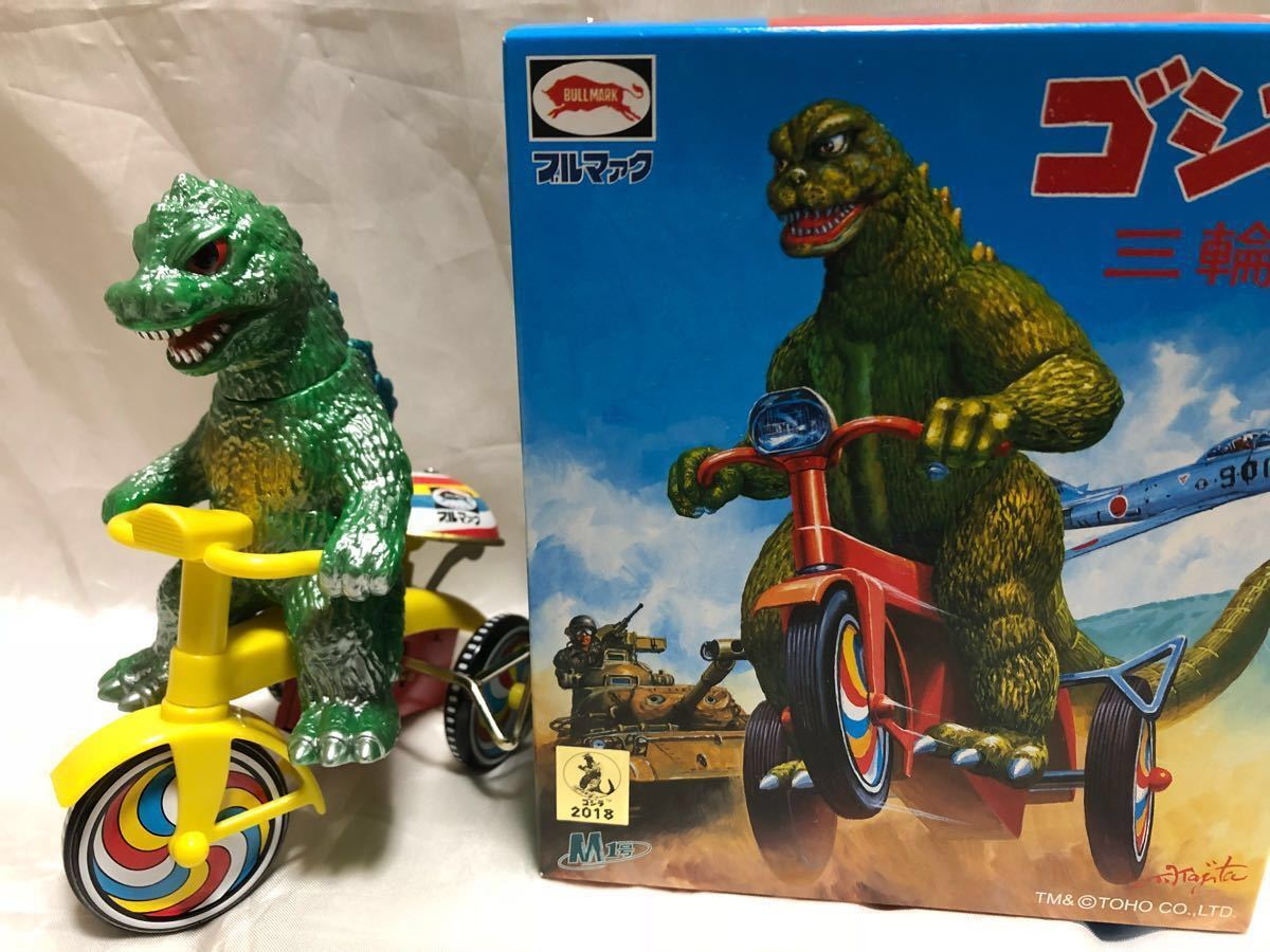 New Godzilla Tricycle Green M1 2018 DNA SF Sofubi Soft Vinyl Figure F S