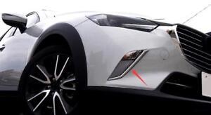 ABS-Cromo-Delantero-Antiniebla-Faro-Parpado-Tapa-Embellecedora-2pcs-para-Mazda