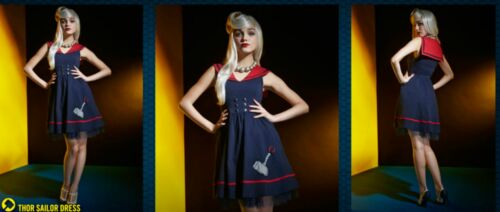 THOR SAILOR DRESS /& ANCHOR NECKLACE~HOT TOPIC MARVEL HER UNIVERSE~FREE PRIORITY