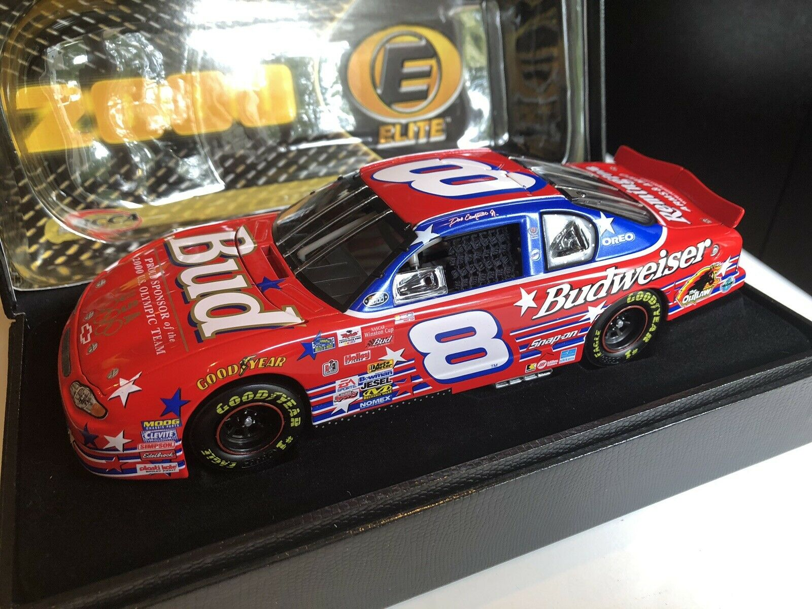 Dale Earnhardt Jr 1 24 Elite 2000  8 Bud   Olympic Mint Condition  1526 Rookie