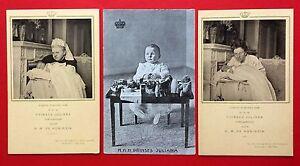 3-x-AK-ADEL-NIEDERLANDE-um-1910-Prinzessin-Juliana-mit-Koenigin-5395