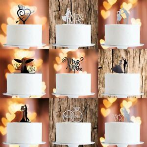 Cake-Toppers-MULTIPLE-DESIGNS-Wedding-Birthday-Decoration-Baking