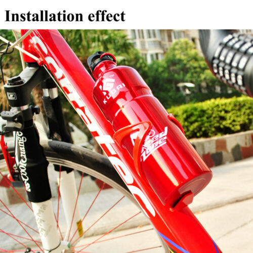 2X Water Bottle Cages Plastic Hiking Cycling Bike Drink Cup Flask Holder Bracket