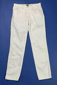 Code-one-pantalone-uomo-usato-W36-tg-50-gamba-dritta-bianco-boyfriend-T4995