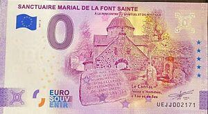 BILLET 0  EURO SANCTUAIRE MARIAL FONT SAINTE  FRANCE ANNIVERSARY 2021 N° DIVERS