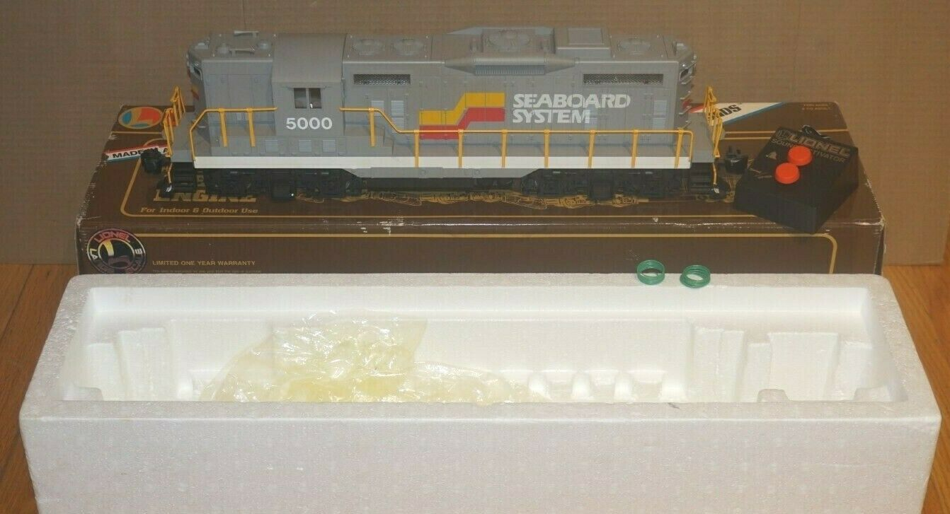 LIONEL LARGE G-SCALE 8-8500 SEABOARD SYSTEM GP-9 DIESEL  5000 LOCOMOTIVE IN OB