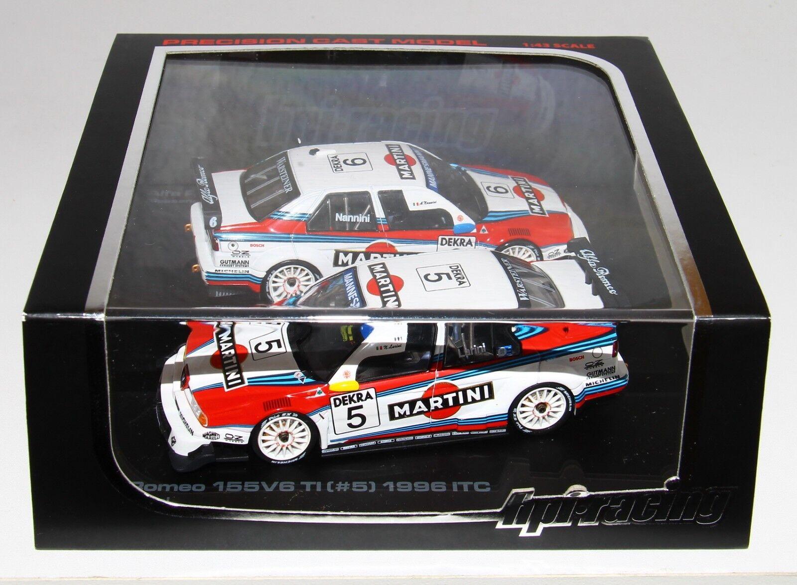 selección larga HPI HPI HPI Racing 8092 1 43 Alfa Romeo 155 V6 TI ( 5 &  6) 1996 ITC Set Larini Nannini  nueva marca
