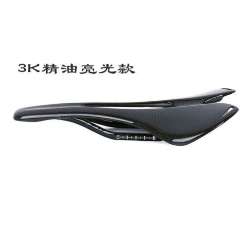 Universal Full Carbon-Fiber Bike Saddle Bicycle Seat Hollow Comfort 270x143mm