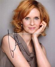 CYNTHIA NIXON Sex and the City 'Miranda Hobbes' Signed Autograph AFTAL & UACC RD