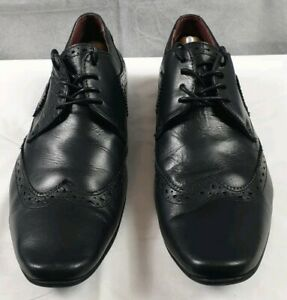 POD Ceres Tan Lace Up Formal Pointed Toe Brogue Leather Mens Shoes