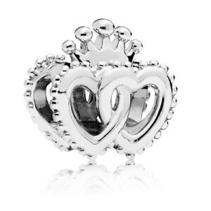 Original-PANDORA-Charm-797670-United-Regal-Hearts