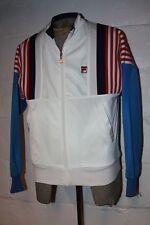 VTG FILA Red White Blue Bjorn Borg Era Full Zip Track Jacket Sz 40 NICE WOW
