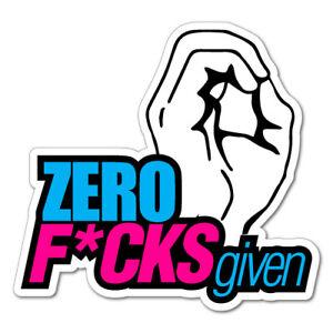 ZERO FCKS GIVEN JDM Sticker Decal Drift Jap Car  #0271E
