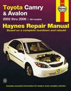 new haynes workshop service repair manual book toyota camry avalon rh ebay com au 2002 Toyota Camry Starter Problems 2002 Toyota Camry Repair Manual