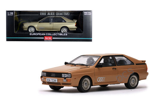SUNSTAR 1981 1981 1981 AUDI QUATTRO gold 1 18 DIECAST MODEL CAR 54d43f
