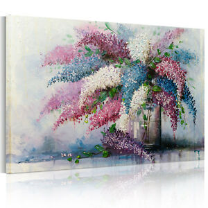 READY-TO-HANG-Framed-Canvas-Prints-Modern-Wall-Art-Picture-Vase-FlowerWatercolor