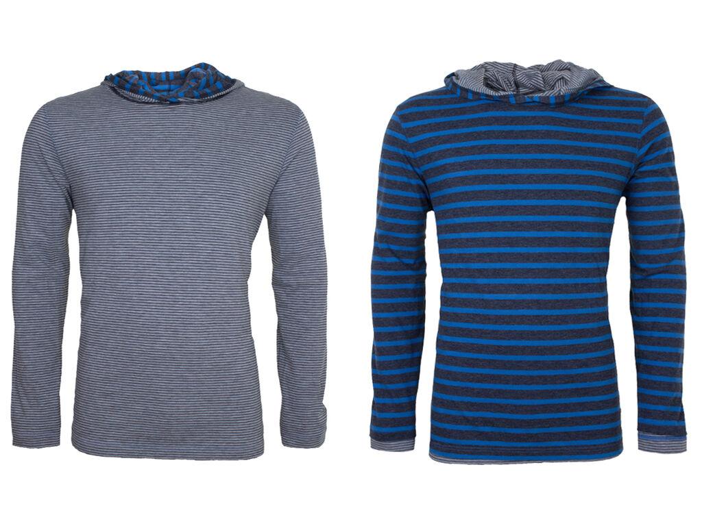 Hugo Boss Kapuzen-Wendeshirt langarm langarm langarm GR-Timeout XL blau grau Baumwollmischung | Neue Produkte im Jahr 2019  0cf87a