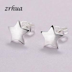 Kleine-Ohrstecker-Stern-echt-Sterling-Silber-925-Damen-Maedchen-Ohrringe