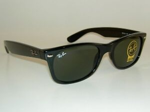 ray ban black wayfarer sunglasses  New RAY BAN Sunglasses Black WAYFARER RB 2132 901L G-15 Glass Lens ...